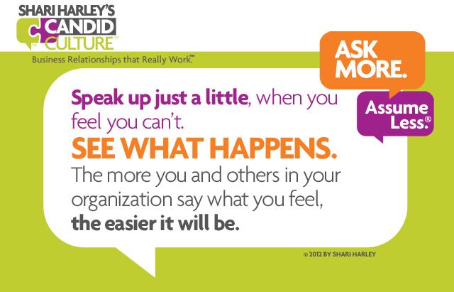 speaking up at work