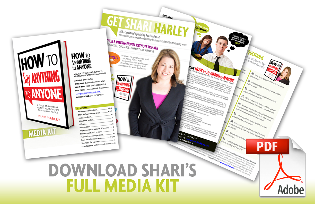 Download Shari Harley's Media Kit / Press Kit