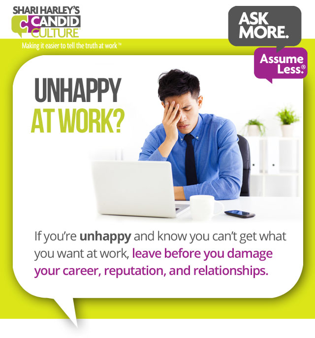 unhappy at work