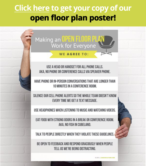 Open Office Floor Plan Poster