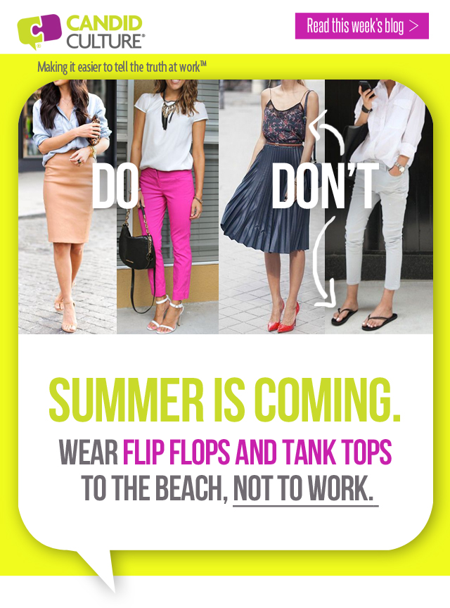 d55f087c1 Summer Office Attire - Leave the Flip Flops at Home
