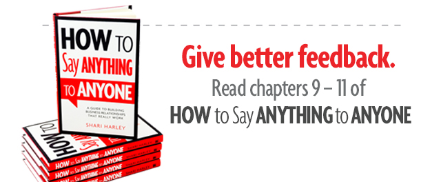 Giving feedback chapters