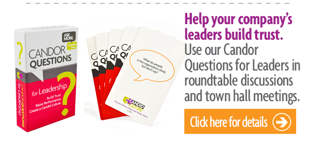 Candor Questions for Leadership
