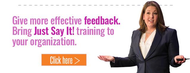 Just say it feedback training